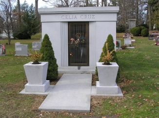 Celia Cruz's mausoleum in Woodlawn Cemetery, The Bronx, New York. (Wikipedia)