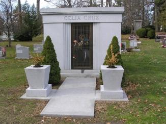 Celia Cruz's mausoleum in Woodlawn Cemetery, The Bronx, New York. (Wikipedia)