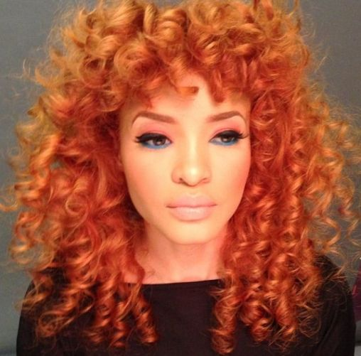 Orange curls @blairangela on Instagram