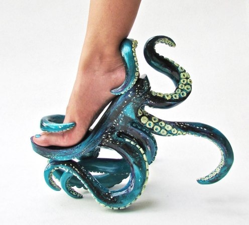 Tentacle High Heels Filipino fashion and shoe designer Kermit Tesoro