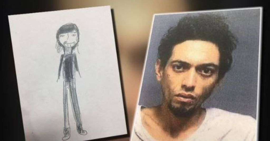 11 year old's drawing of suspect NBC photo
