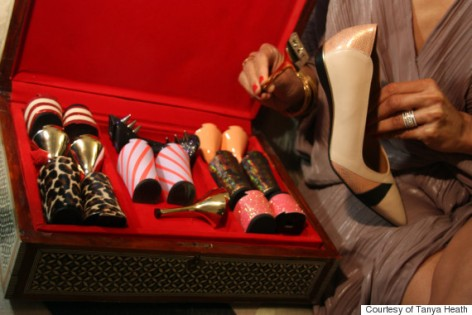 Interchangeable heels Tanya Heath Paris