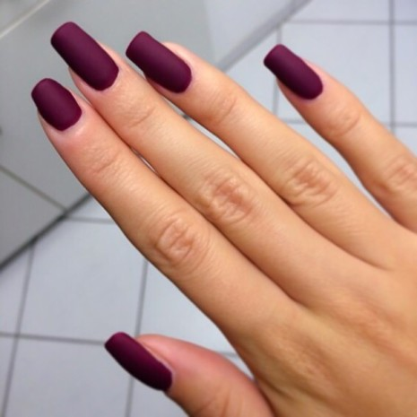 Matte Plum color nail polish (Where To Get It)