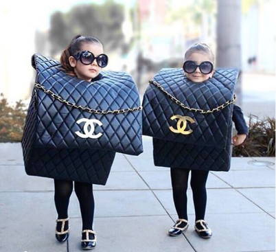 Chanel Purse Bag Costume (INSTAGRAM.COM/THEROYALTWINS)