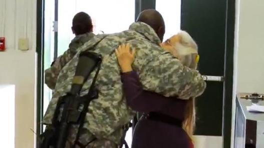 Hug Lady Elizabeth Laird (NBC DFW)